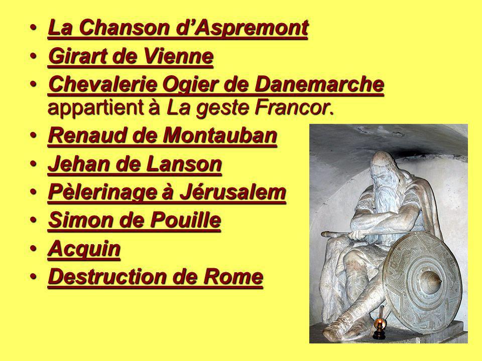 La Chanson d'Aspremont