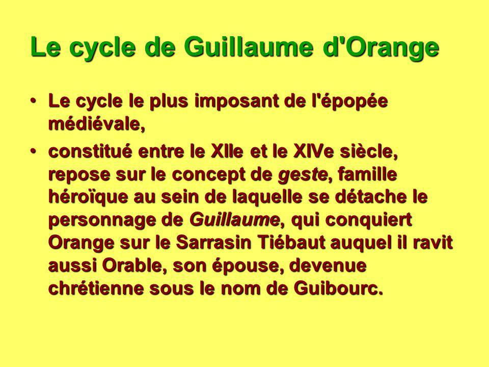 Le cycle de Guillaume d Orange