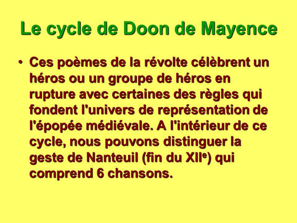 Le cycle de Doon de Mayence