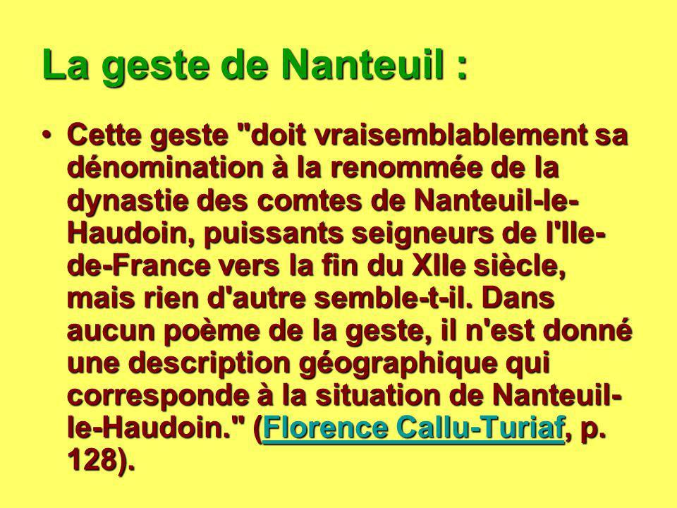 La geste de Nanteuil :