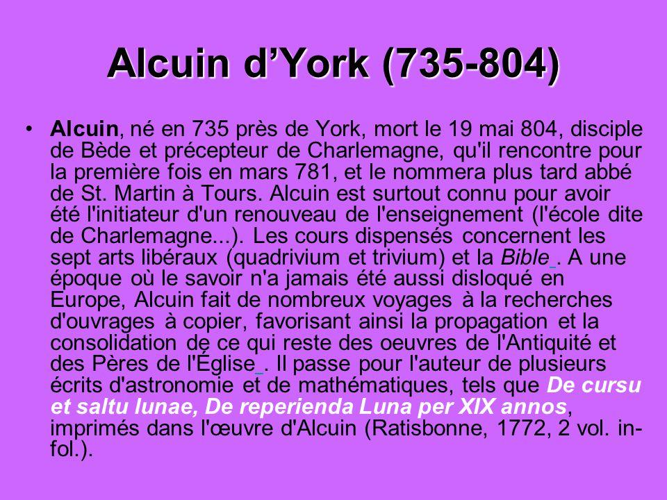 Alcuin d'York (735-804)