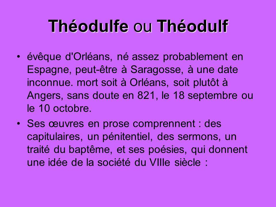 Théodulfe ou Théodulf