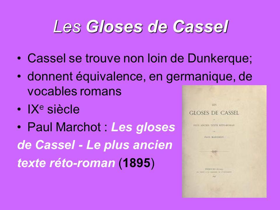 Les Gloses de Cassel Cassel se trouve non loin de Dunkerque;