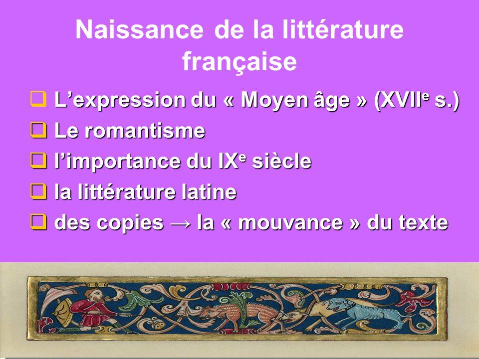 Naissance de la littérature française