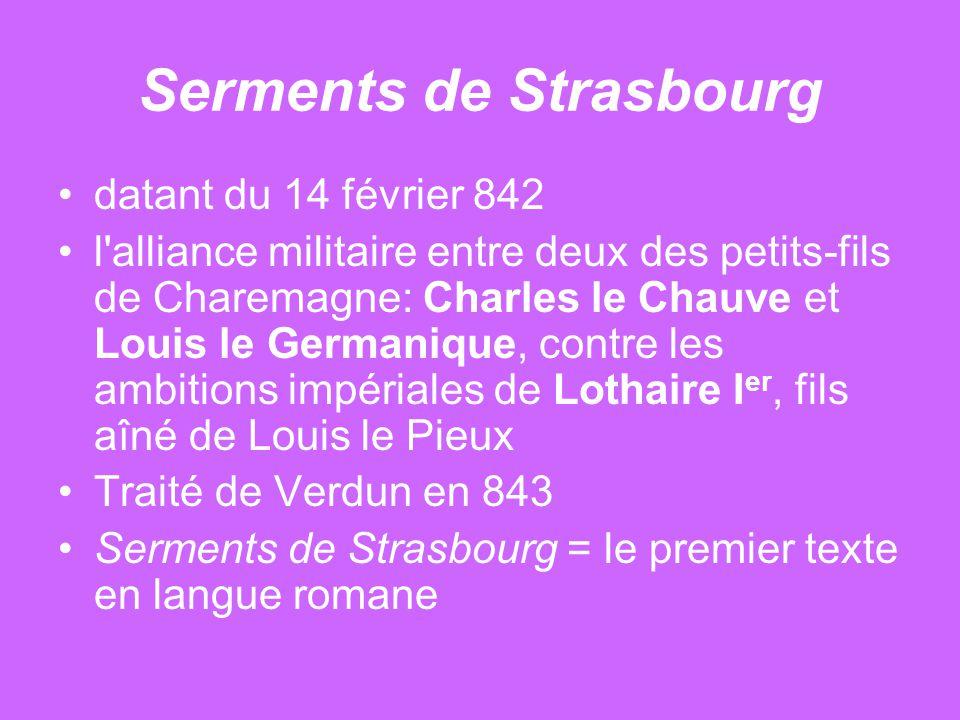 Serments de Strasbourg