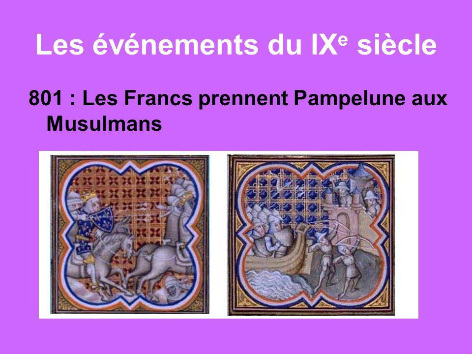 Les événements du IXe siècle