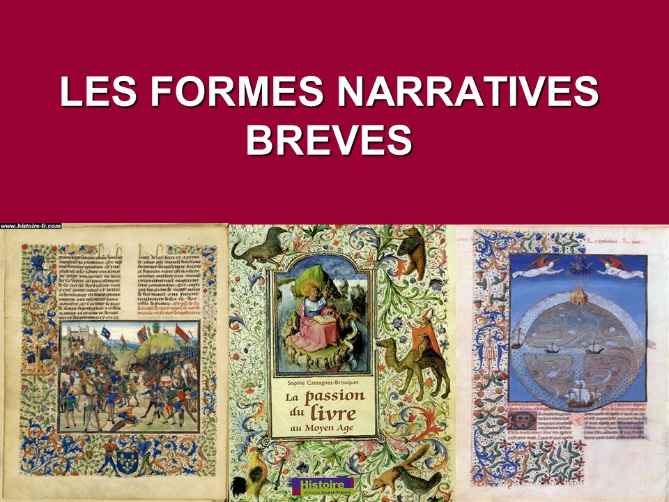 LES FORMES NARRATIVES BREVES