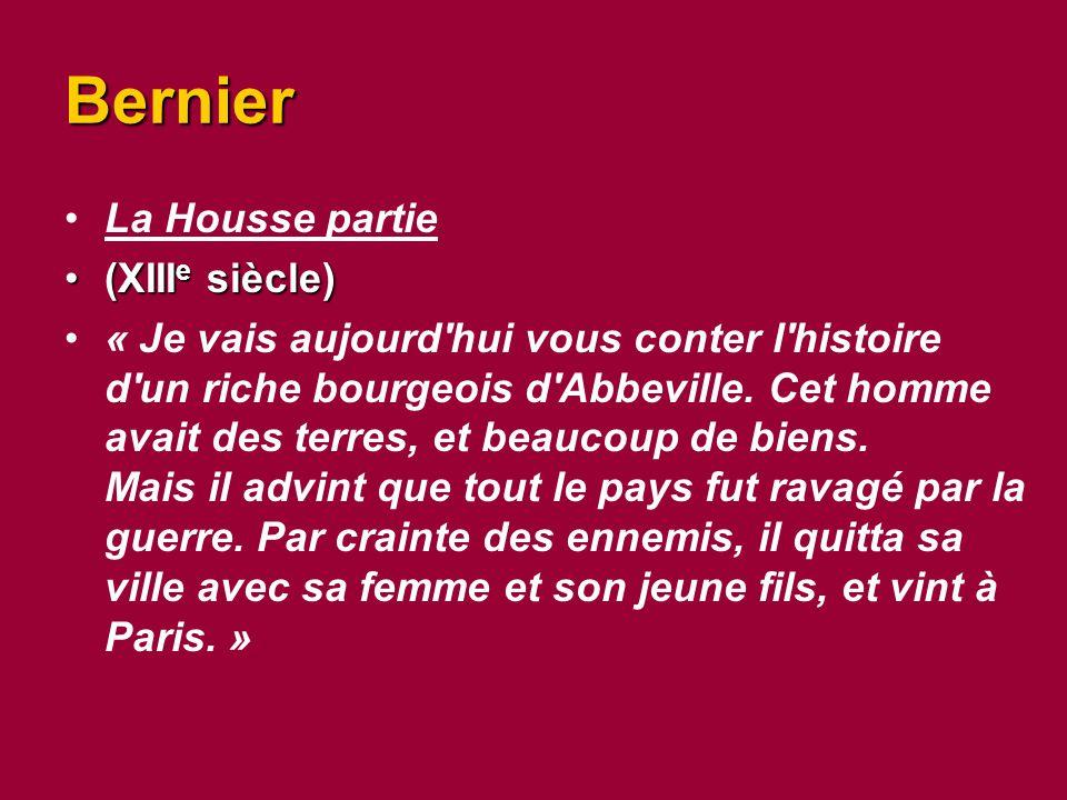 Bernier La Housse partie (XIIIe siècle)