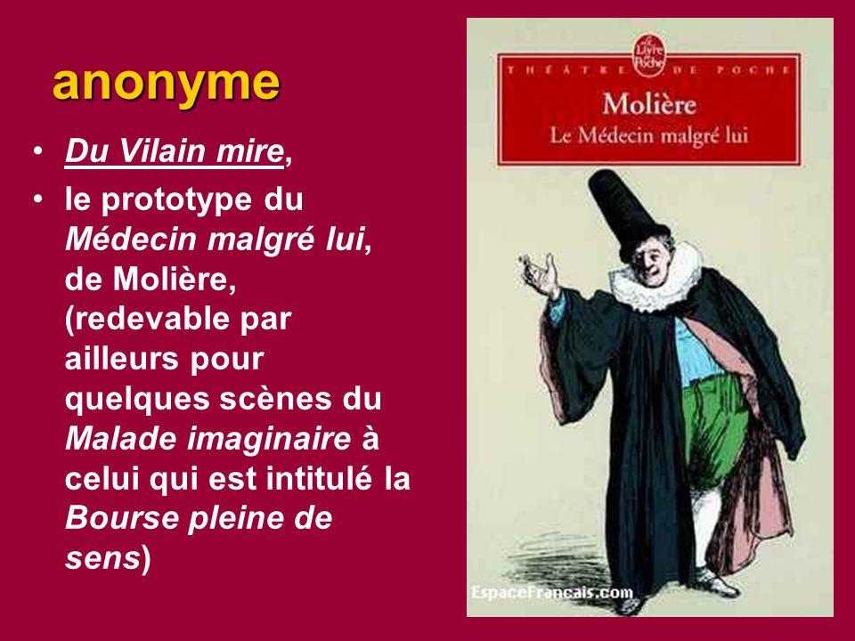 anonyme Du Vilain mire,