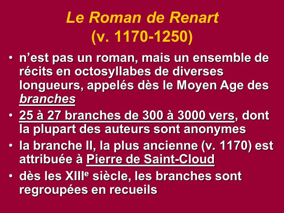 Le Roman de Renart (v. 1170-1250)