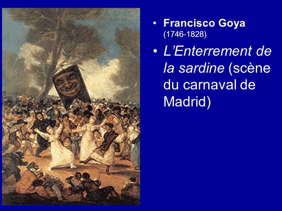 L'Enterrement de la sardine (scène du carnaval de Madrid)