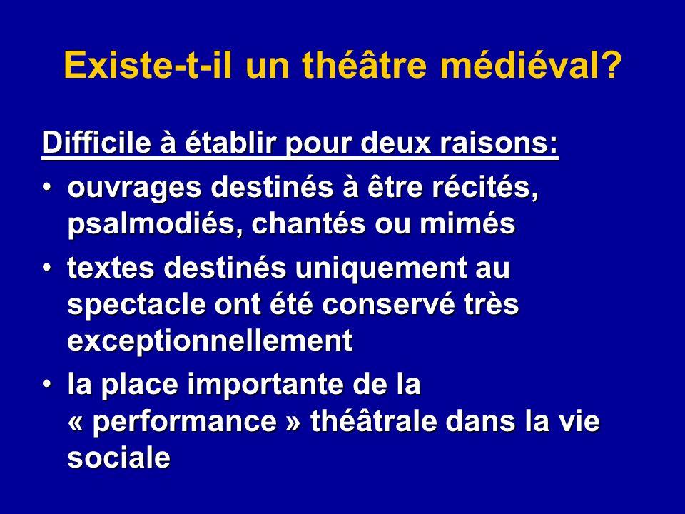 Existe-t-il un théâtre médiéval