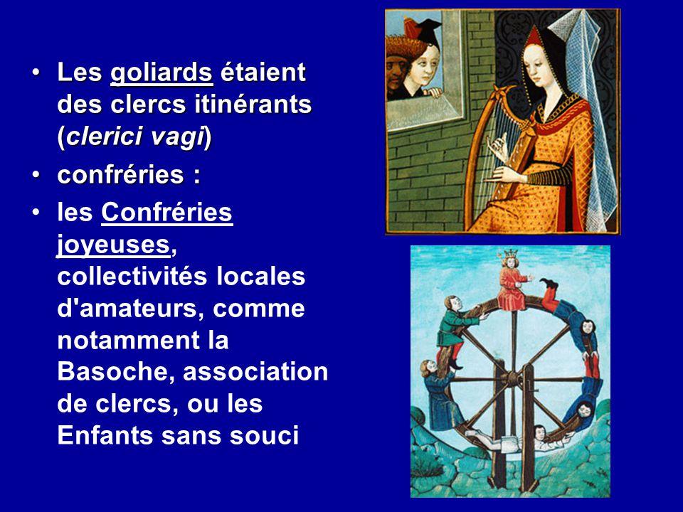 Les goliards étaient des clercs itinérants (clerici vagi)