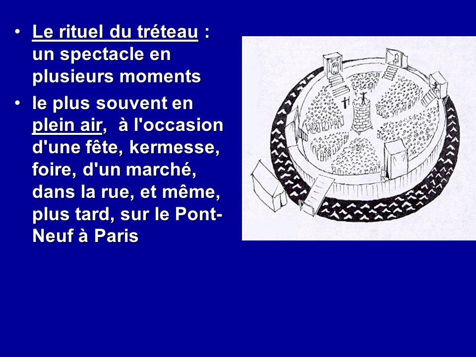 Le rituel du tréteau : un spectacle en plusieurs moments