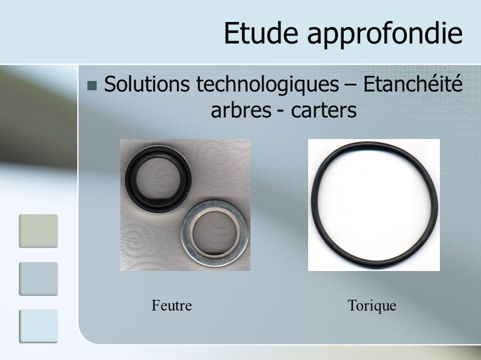 Solutions technologiques – Etanchéité arbres - carters