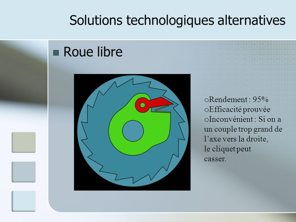Solutions technologiques alternatives
