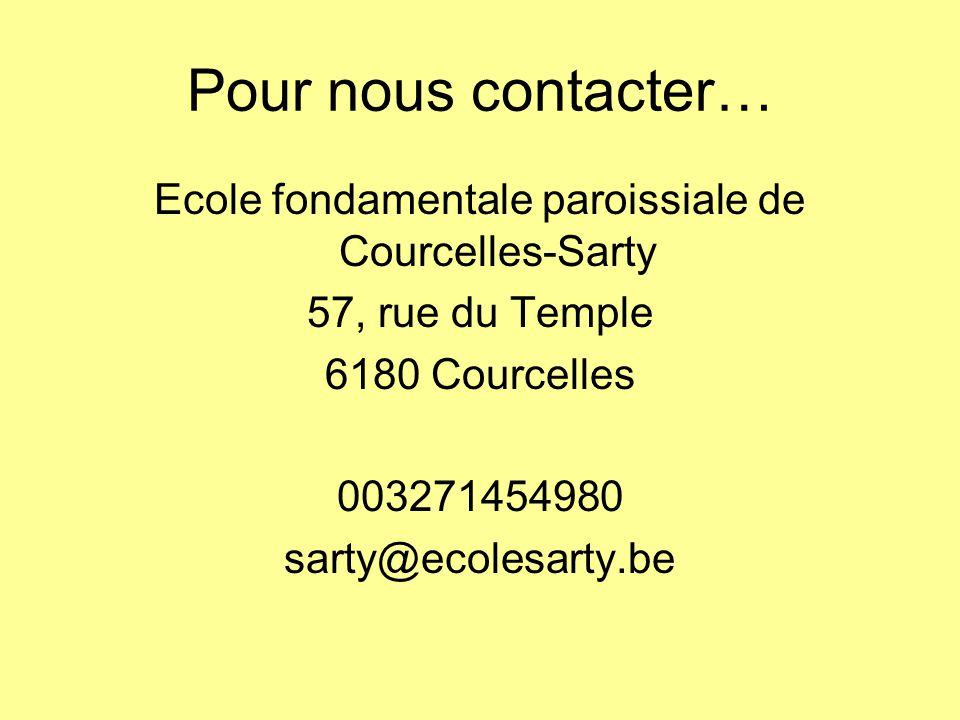 Ecole fondamentale paroissiale de Courcelles-Sarty