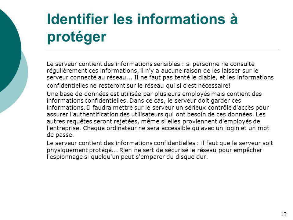 Identifier les informations à protéger