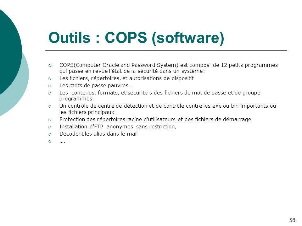 Outils : COPS (software)