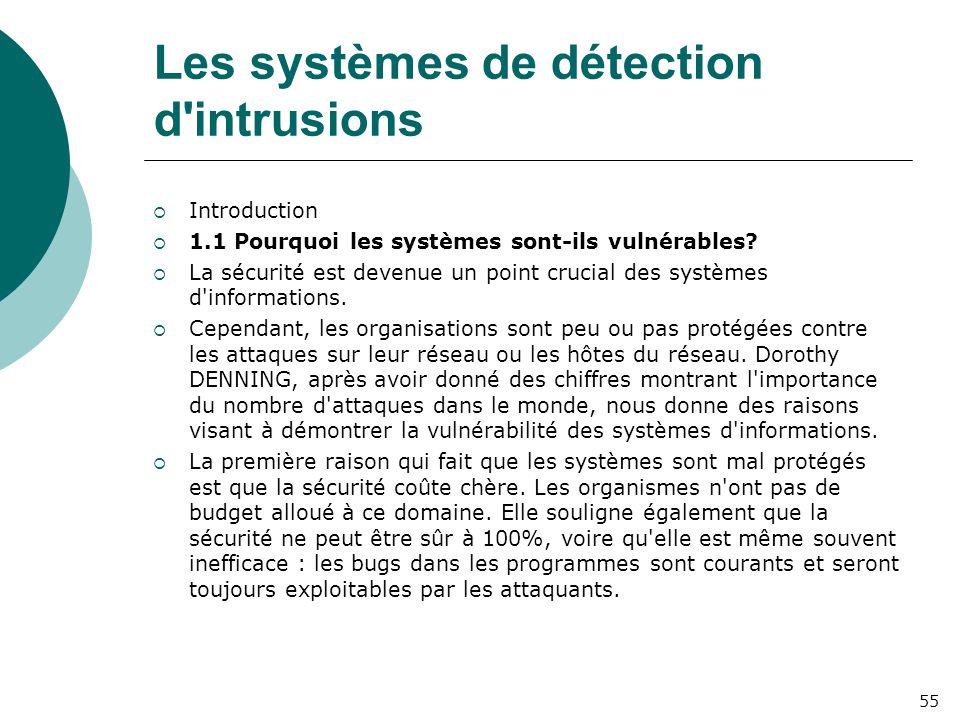 Les systèmes de détection d intrusions