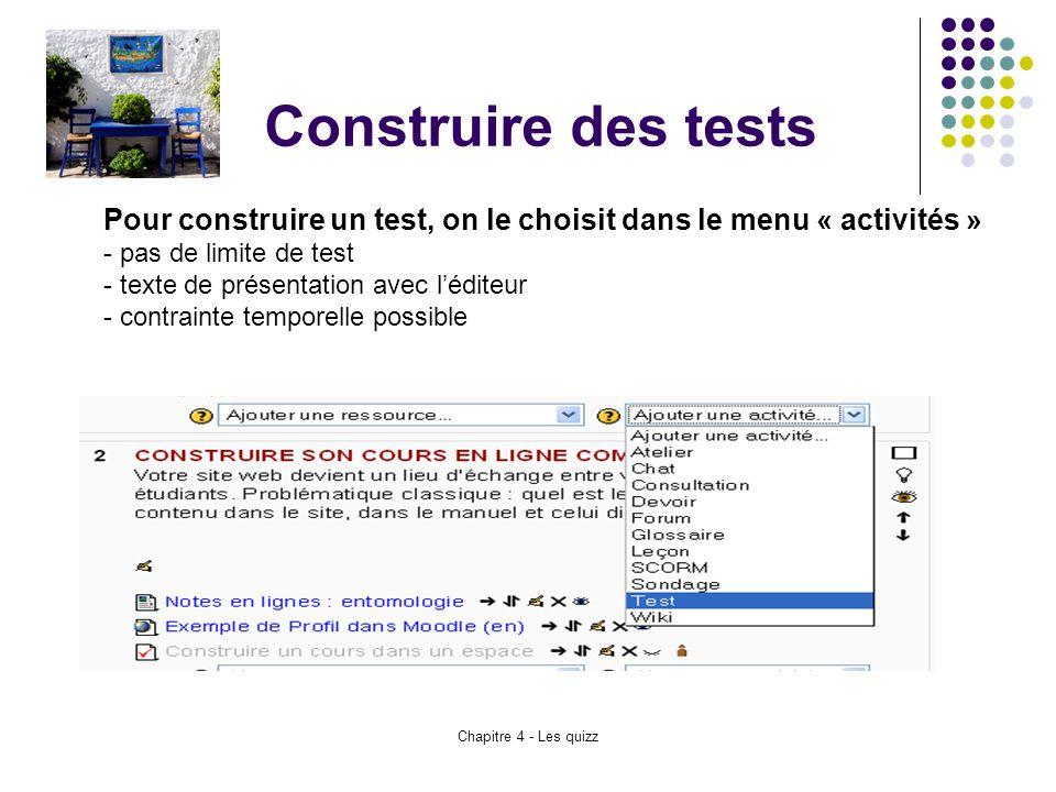 Construire des tests