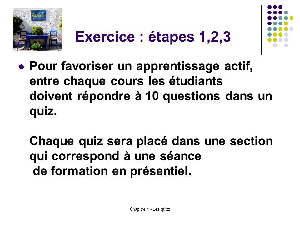 Exercice : étapes 1,2,3