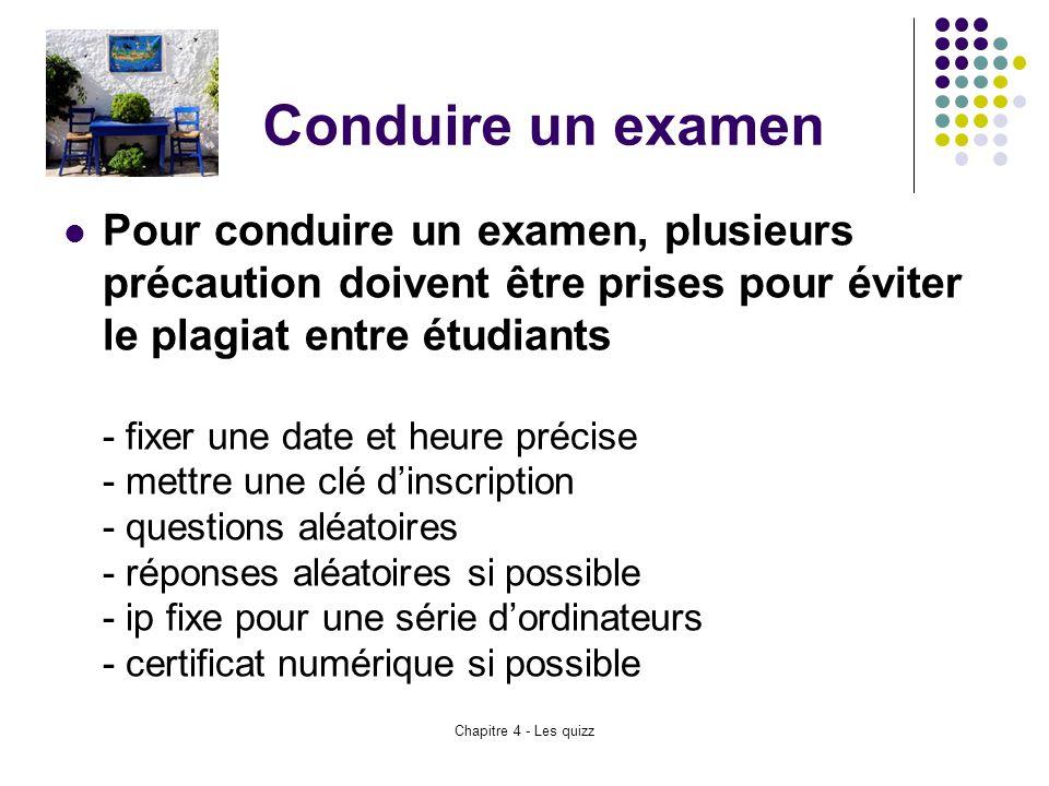 Conduire un examen