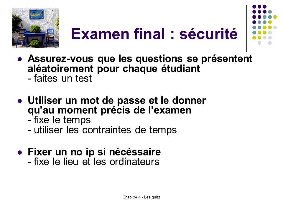Examen final : sécurité