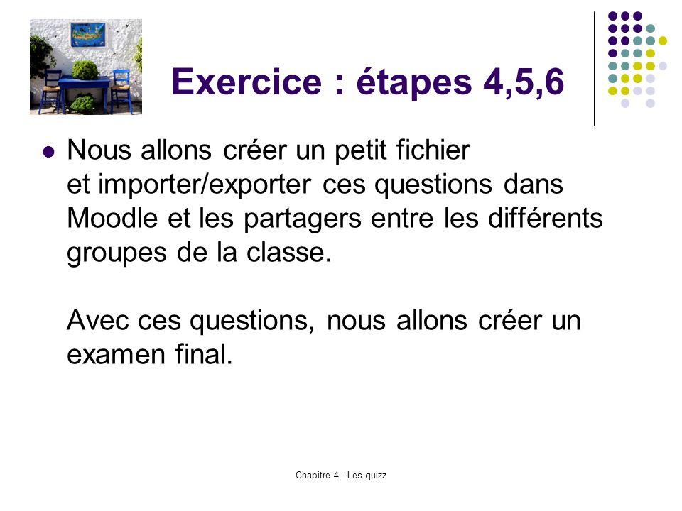 Exercice : étapes 4,5,6