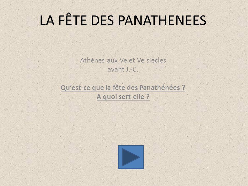 LA FÊTE DES PANATHENEES