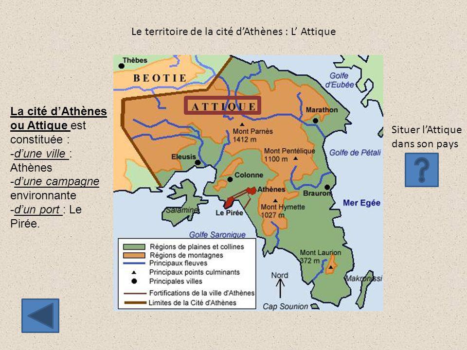 Le territoire de la cité d'Athènes : L' Attique