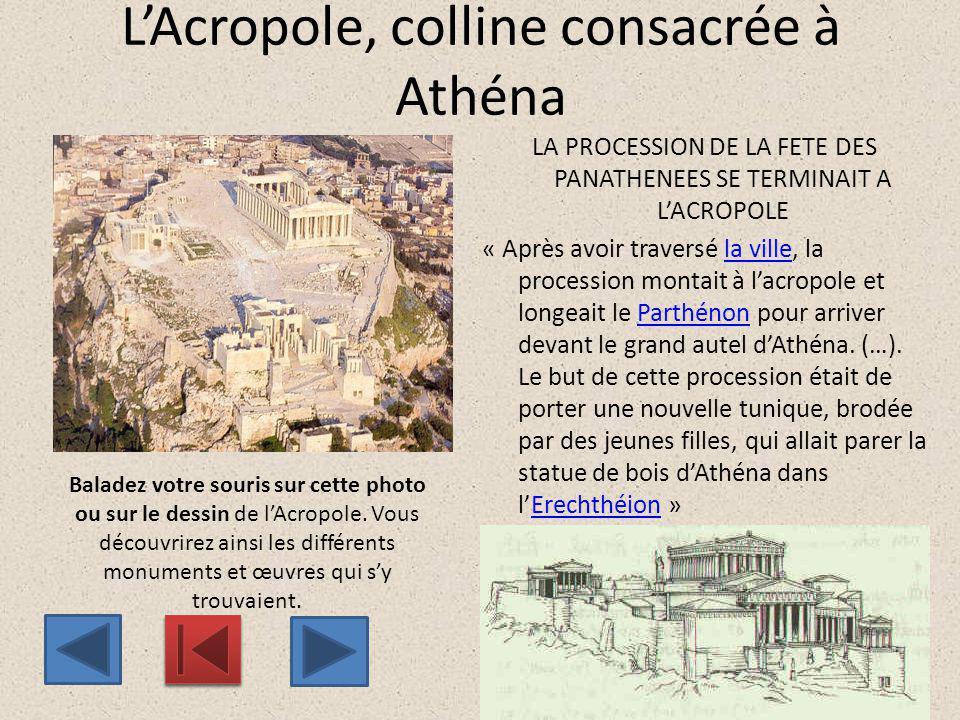 L'Acropole, colline consacrée à Athéna