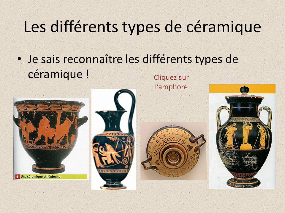 Les différents types de céramique