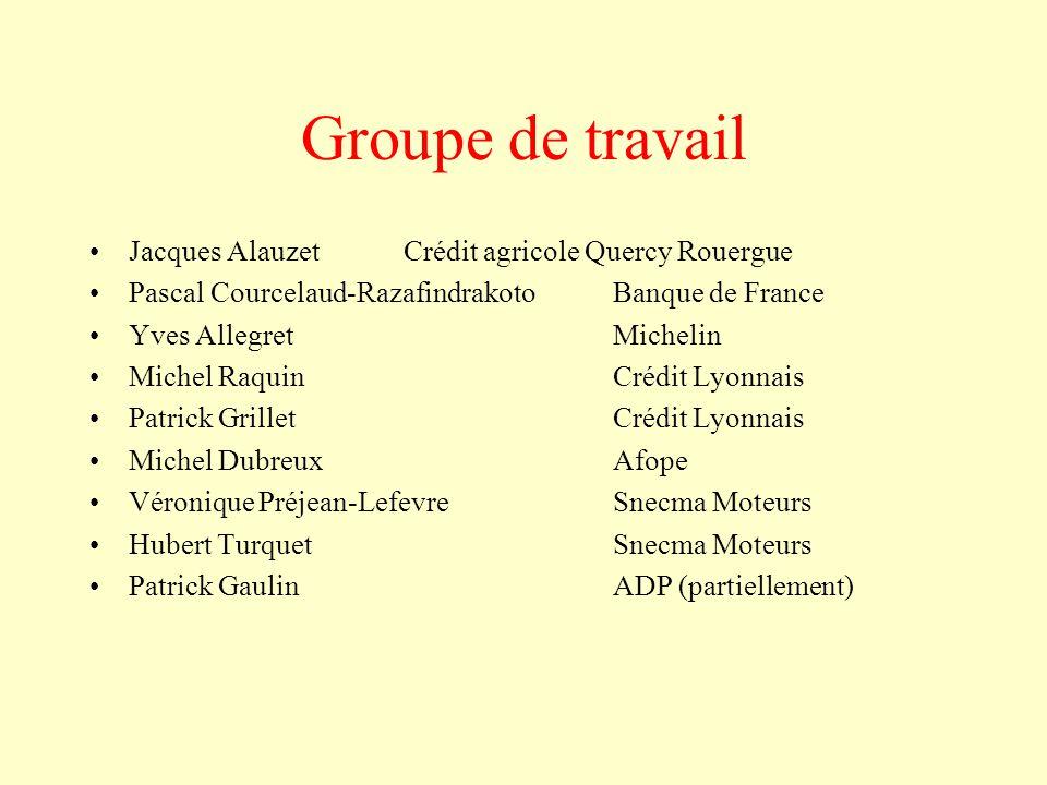 Groupe de travail Jacques Alauzet Crédit agricole Quercy Rouergue