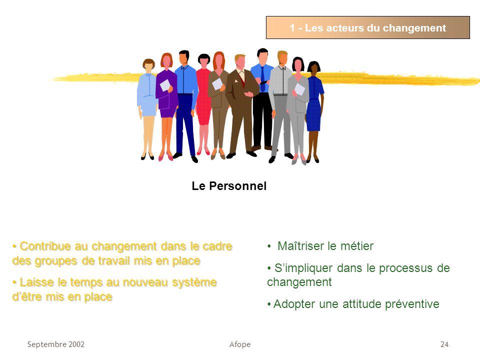 1 - Les acteurs du changement