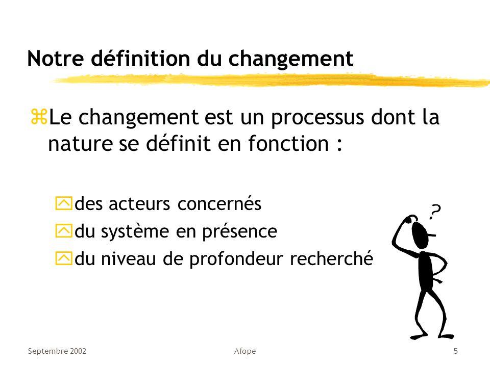 Notre définition du changement