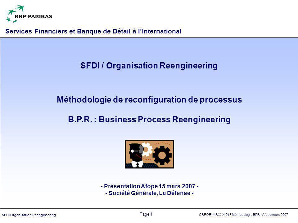 SFDI / Organisation Reengineering