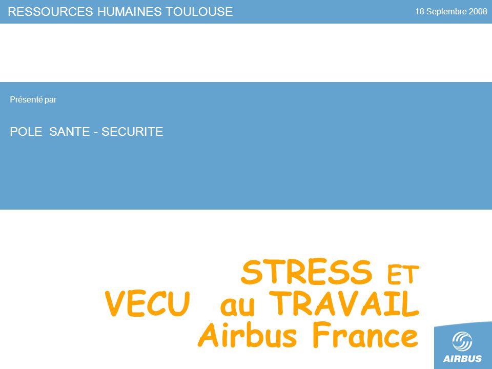 STRESS ET VECU au TRAVAIL Airbus France
