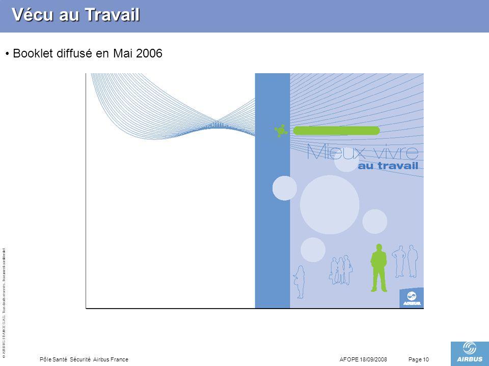 Vécu au Travail Booklet diffusé en Mai 2006