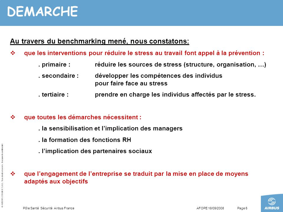 DEMARCHE Au travers du benchmarking mené, nous constatons: