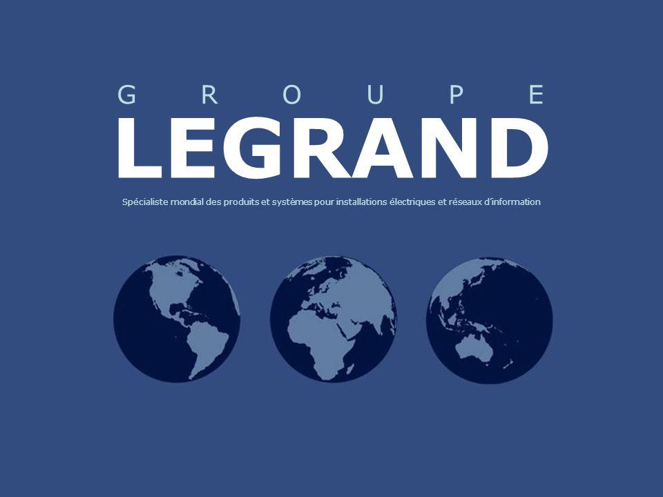 LEGRAND Spécialiste mondial des produits et systèmes pour installations électriques et réseaux d'information.