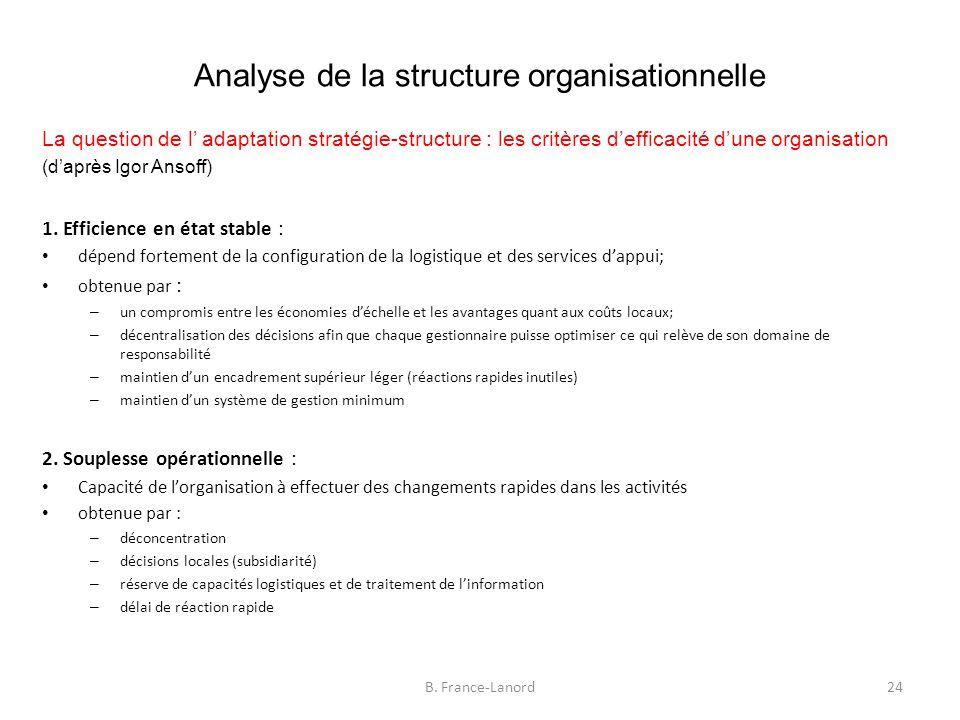Analyse de la structure organisationnelle