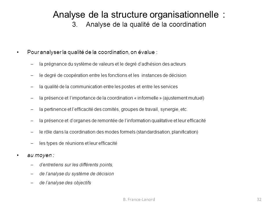 Analyse de la structure organisationnelle : 3