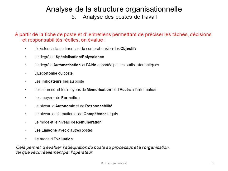 Analyse de la structure organisationnelle 5