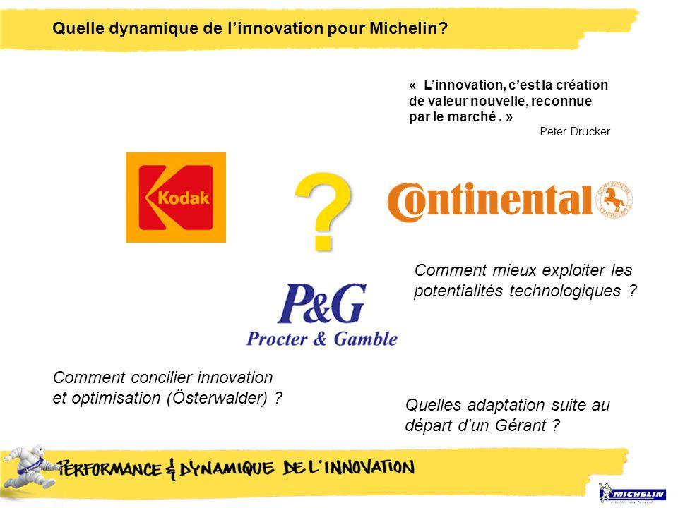 Quelle dynamique de l'innovation pour Michelin