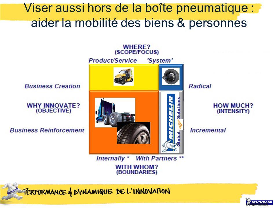 Viser aussi hors de la boîte pneumatique : aider la mobilité des biens & personnes