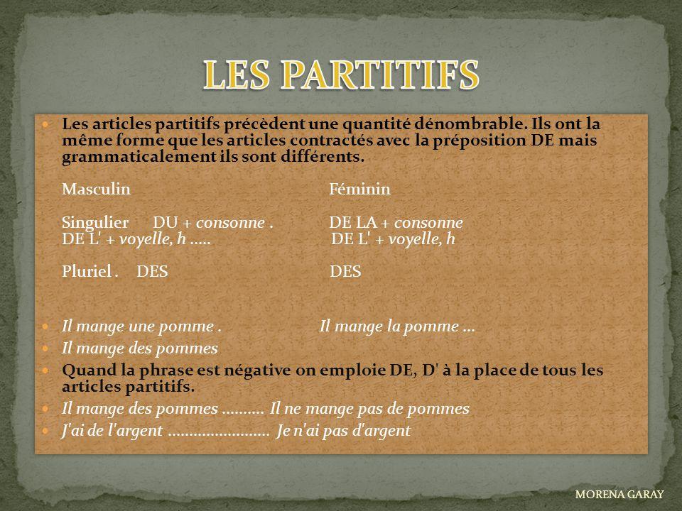 LES PARTITIFS