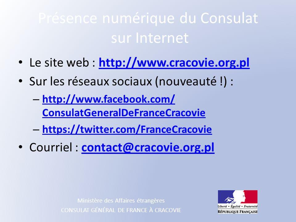 Présence numérique du Consulat sur Internet
