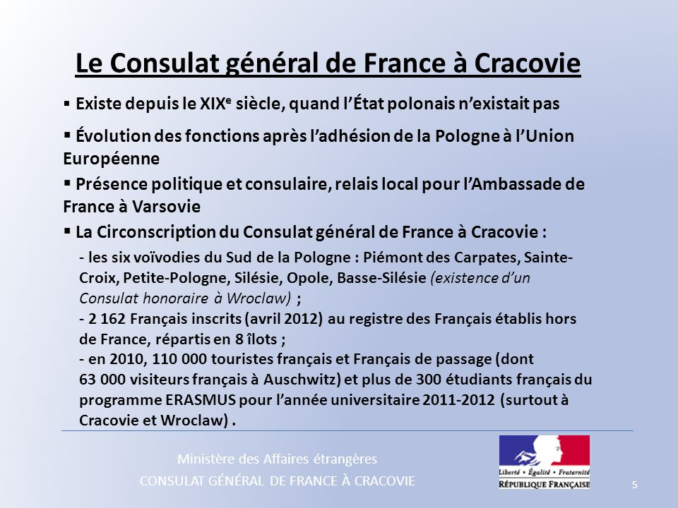Le Consulat général de France à Cracovie