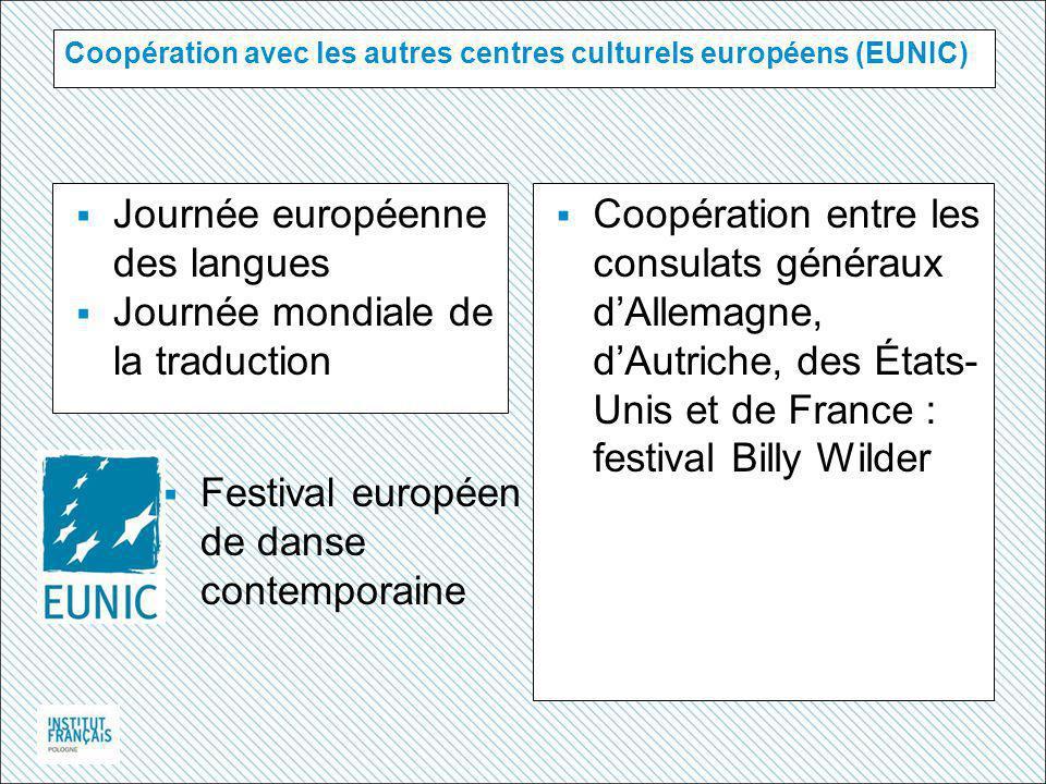 Coopération avec les autres centres culturels européens (EUNIC)